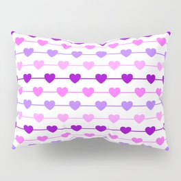 Hearts - Pink and Purple Pillow Sham
