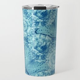 Butterflies on butterflies in blue Travel Mug