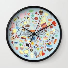 Gluttony Is Bliss Wall Clock
