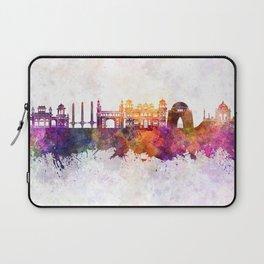 Karachi skyline in watercolor background Laptop Sleeve