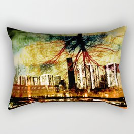 Darkness Tree - Double Exposure Rectangular Pillow