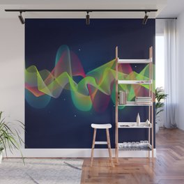 Equalizer Sound Waves Wall Mural