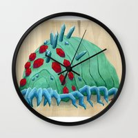 nausicaa Wall Clocks featuring crystal ohmu by terastar
