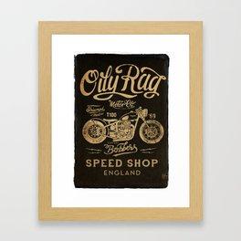 Oily Rag Motor Co Framed Art Print