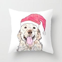Christmas Golden Retriever Throw Pillow