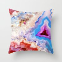 crystals Throw Pillows featuring Crystals by Eileen Holland