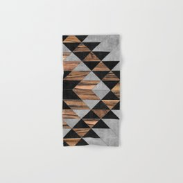 Urban Tribal Pattern No.10 - Aztec - Concrete and Wood Hand & Bath Towel