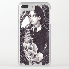 Wednesday Friday Addams Clear iPhone Case