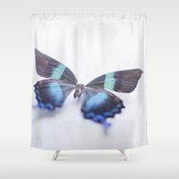 butterfly Shower Curtains featuring Butterfly by Pure Nature Photos