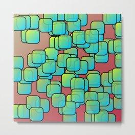 Emerald colored squares Metal Print