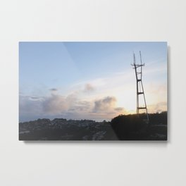 Sutro Tower at Sunset Metal Print