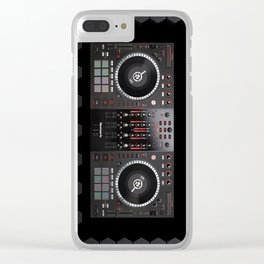 dj  Background bleak beehive Clear iPhone Case