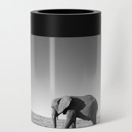 Lone female elephant walking along African savanna Can Cooler
