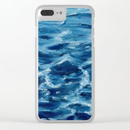 Acrylic wave Clear iPhone Case