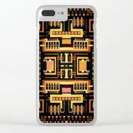 Circuit board v5 Clear iPhone Case