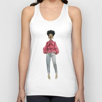 fancy Tank Tops featuring Fancy by Coily and Cute