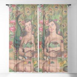 Summer Romance  Sheer Curtain