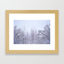 Neige Framed Art Print