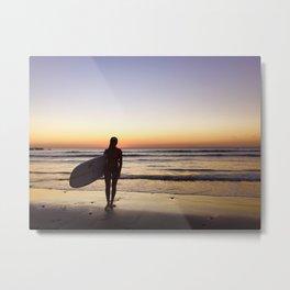 Sunset Surf Moment Metal Print