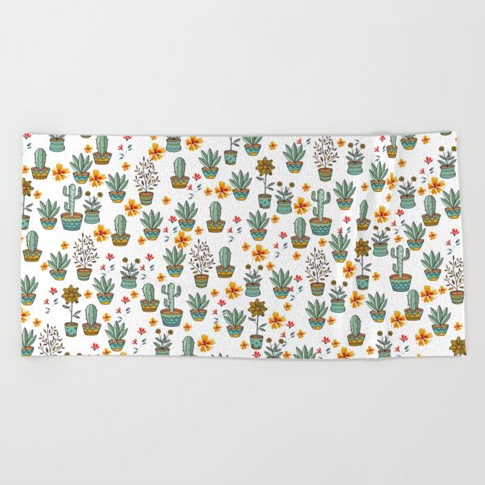 Floral Sunshines Beach Towel