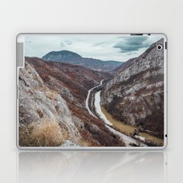 Beautiful photo of the canyon in Serbia, with river and the highway in the middle Laptop & iPad Skin
