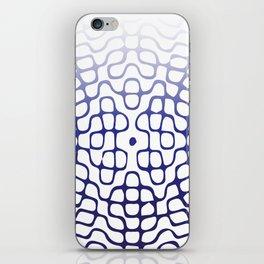 Blue Cymatics Pattern iPhone Skin
