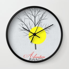 Adventure Awaits You Wall Clock