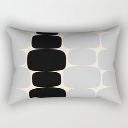 Abstraction_Balance_ROCKS_BLACK_WHITE_Minimalism_001 Rectangular Pillow