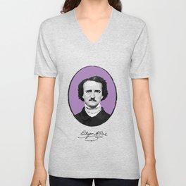 Authors - Edgar Allan Poe Unisex V-Neck
