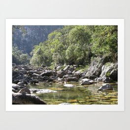 Casca d'Anta Waterfall, near the spring of São Francisco River. Art Print
