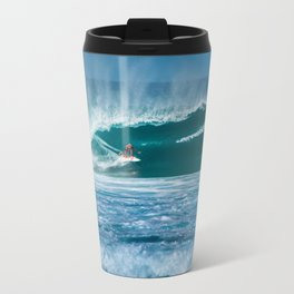 Surfing Hawaii Travel Mug