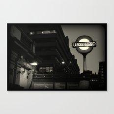 London Temple Undergroung Station Canvas Print