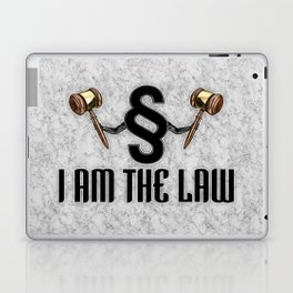 I am the law / 3D render of section sign holding judges gavels Laptop & iPad Skin