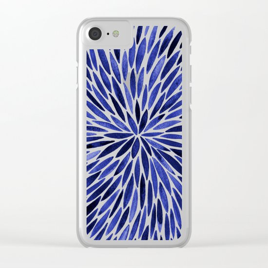 Navy Burst Clear iPhone Case