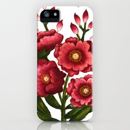 Celosia cristata_Solnekim iPhone Case