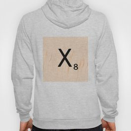 Scrabble Letter X - Scrabble Art and Apparel Hoody