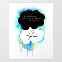 the fault in our stars Art Prints featuring The Fault in Our Stars by Awful Artist