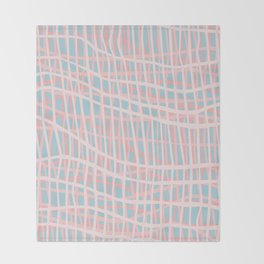 Net Blush Blue Throw Blanket