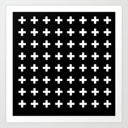 Swiss Cross Scandinavian Design Art Print