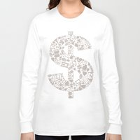 medicine Long Sleeve T-shirts featuring Medicine dollar by aleksander1