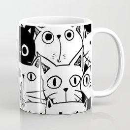 MONOCHROME CAT PATTERN Coffee Mug