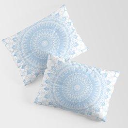 Baby Blue Boho Mandala Pillow Sham