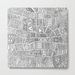 ESHE black white Metal Print