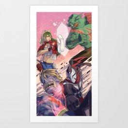 Tag Team! Art Print