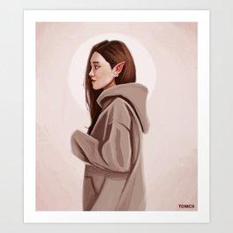 Elf Woman Art Print