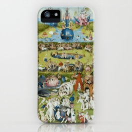 The Garden of Earthly Delights by Hieronymus Bosch (1490-1510) iPhone Case