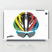 cycling iPad Cases featuring Cycling Face by Pedlin