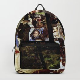 Music at the Tuileries by Édouard Manet Backpack
