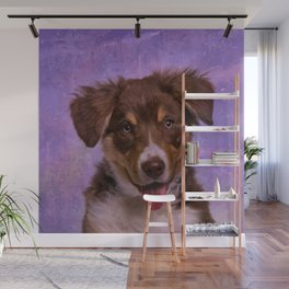 Border Collie Puppy Wall Mural
