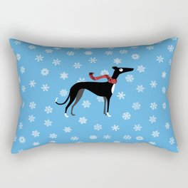 Snowy Hound Rectangular Pillow